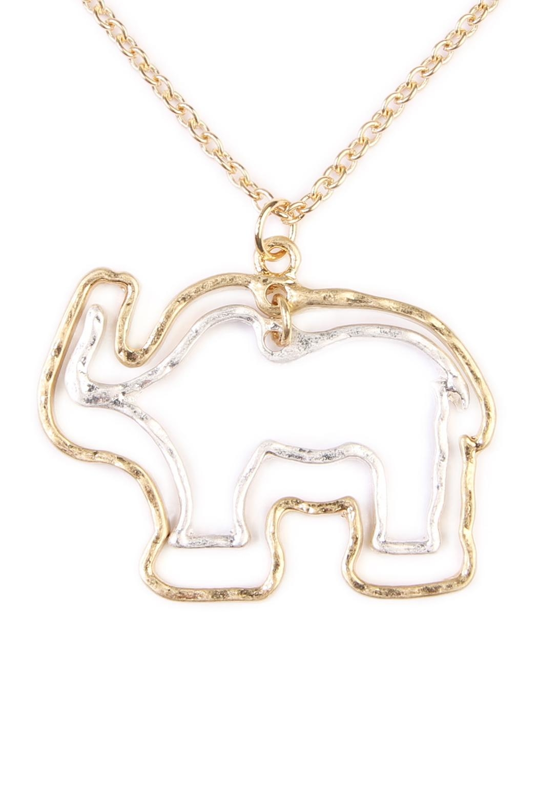 Riah Fashion Cute Elephant Necklace - Front Full Image
