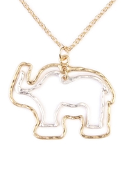Riah Fashion Cute Elephant Necklace - Front full body
