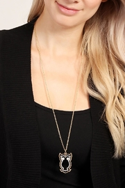 Riah Fashion Cute Owl Necklace - Side cropped