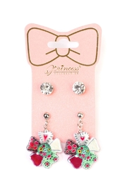 Riah Fashion Cute-Pair Detailed Earrings - Product Mini Image