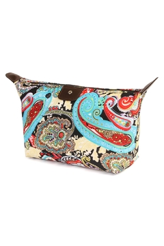 Shoptiques Product: Cute-Paisley Print Cosmetic-Bag