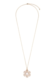 Riah Fashion Cute Snowflake Necklace - Front cropped