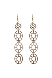 Riah Fashion Cutout Geometric Earrings - Product Mini Image