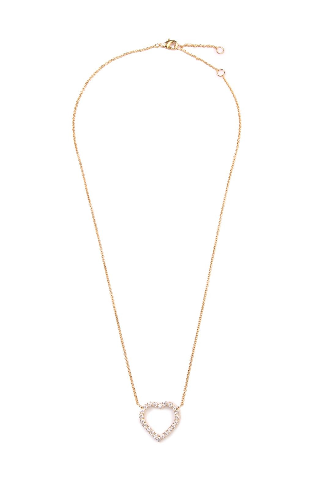 Riah Fashion Cutout Heart Pendant Necklace - Main Image