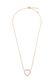 Riah Fashion Cutout Heart Pendant Necklace - Front cropped
