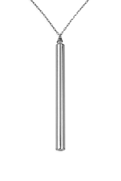 Riah Fashion Cylindrical Bar Necklace - Product List Image