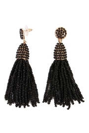 Riah Fashion Czech Beads Tassel Earrings - Product Mini Image
