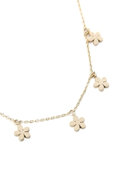 Riah Fashion Dainty Flower Charm Necklac - Product List Image