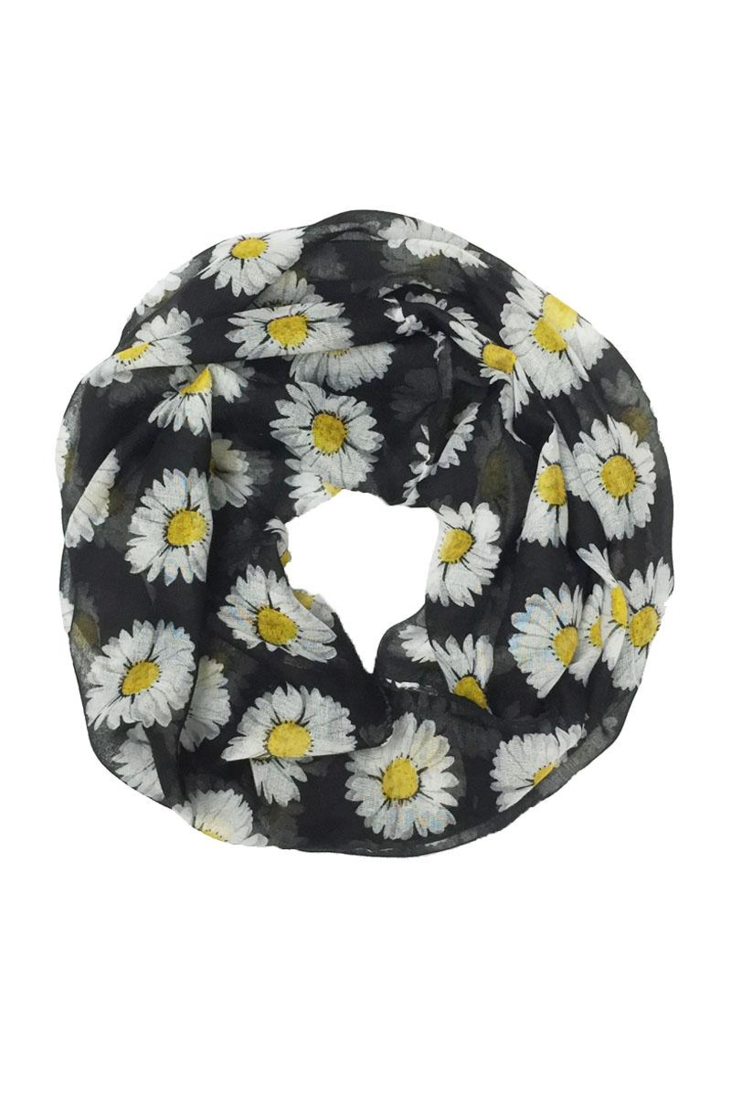 Riah Fashion Daisy Floral Infinity Scarf - Front Cropped Image