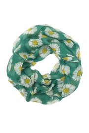 Riah Fashion Daisy Floral Infinity Scarf - Front cropped