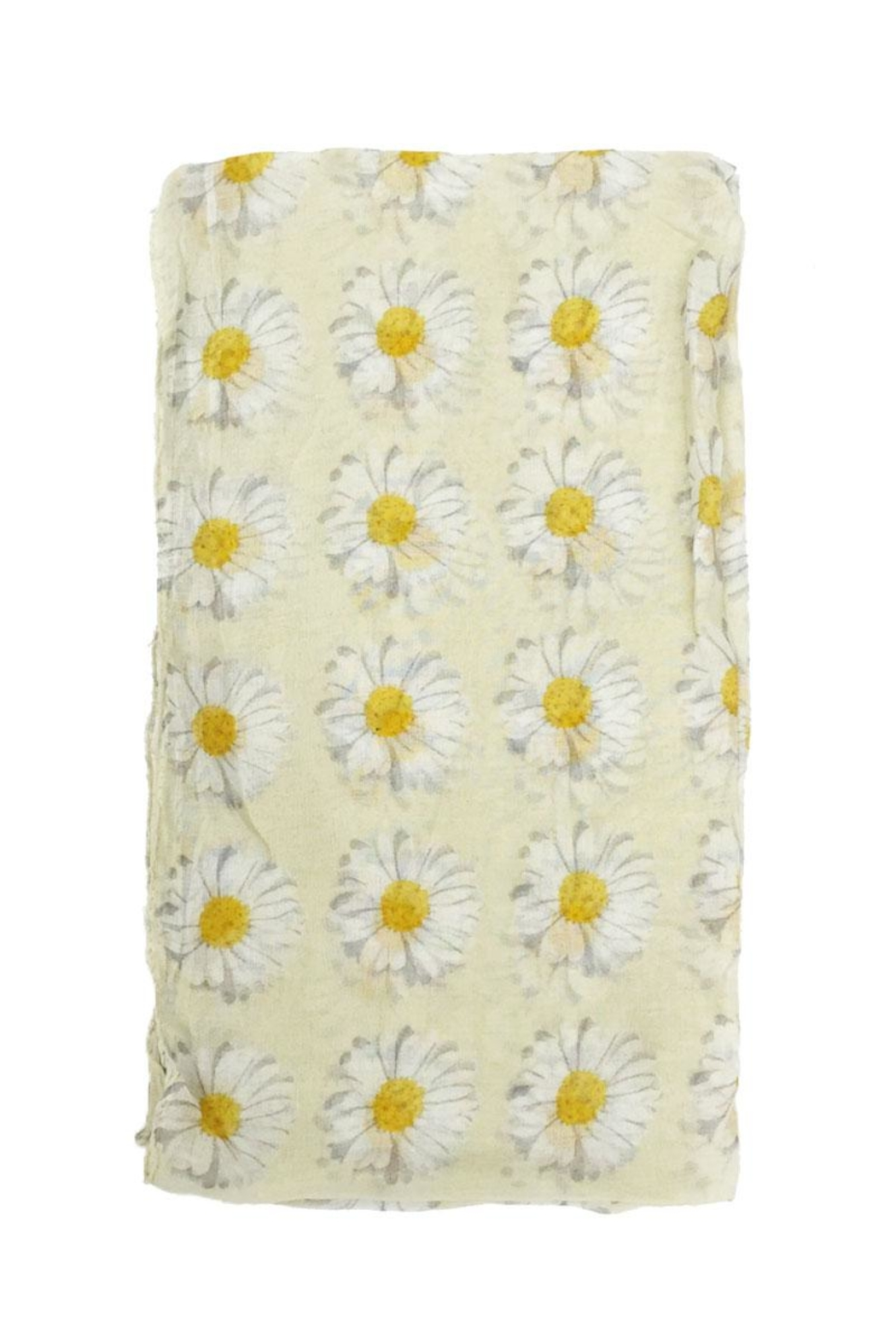 Riah Fashion Daisy Floral Infinity Scarf - Front Full Image