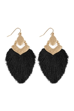 Shoptiques Product: Dangle Tassel Drop Earrings