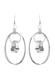 Riah Fashion Dangled Over-Shape Earrings - Product Mini Image