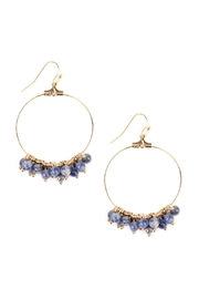 Riah Fashion Dangling Natural Stone-Earring - Front cropped