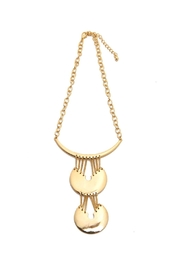 Riah Fashion Dangling Sphere Necklace - Product Mini Image