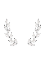 Riah Fashion Silver Danity Vine Crawler Earrings - Product Mini Image