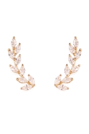 Riah Fashion Danity Vine Crawler Earrings - Product Mini Image