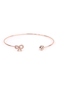 Riah Fashion Delicate Bow Cuff Bracelet - Product List Image