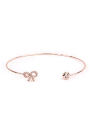 Riah Fashion Delicate Bow Cuff Bracelet - Product Mini Image