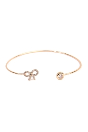 Riah Fashion Delicate Bow Cuff Bracelet - Front cropped