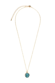 Riah Fashion Delicate Druzy Necklace - Product Mini Image