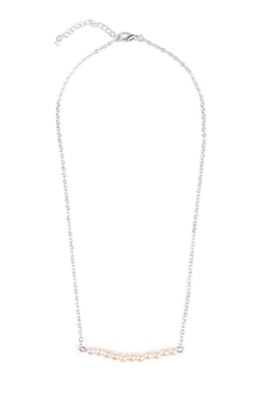 Shoptiques Product: Delicate Pearl-Bar Necklace