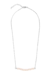 Riah Fashion Delicate Pearl-Bar Necklace - Front cropped