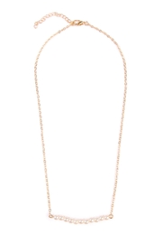 Riah Fashion Delicate Pearl-Bar Necklace - Product Mini Image