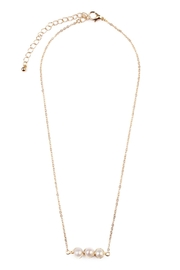 Riah Fashion Delicate Pearl Necklace - Front cropped