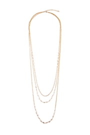 Riah Fashion Delicate Pearl Necklace - Product Mini Image