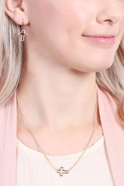 Riah Fashion Delicate Small-Cross-Line Necklace-Set - Other