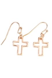 Riah Fashion Delicate Small-Cross-Line Necklace-Set - Front full body