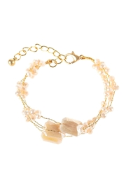 Riah Fashion Delicate Stone Beaded Bracelet - Front full body