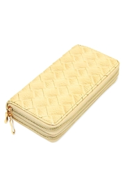Riah Fashion Designer Double Zipper Wallet - Product Mini Image