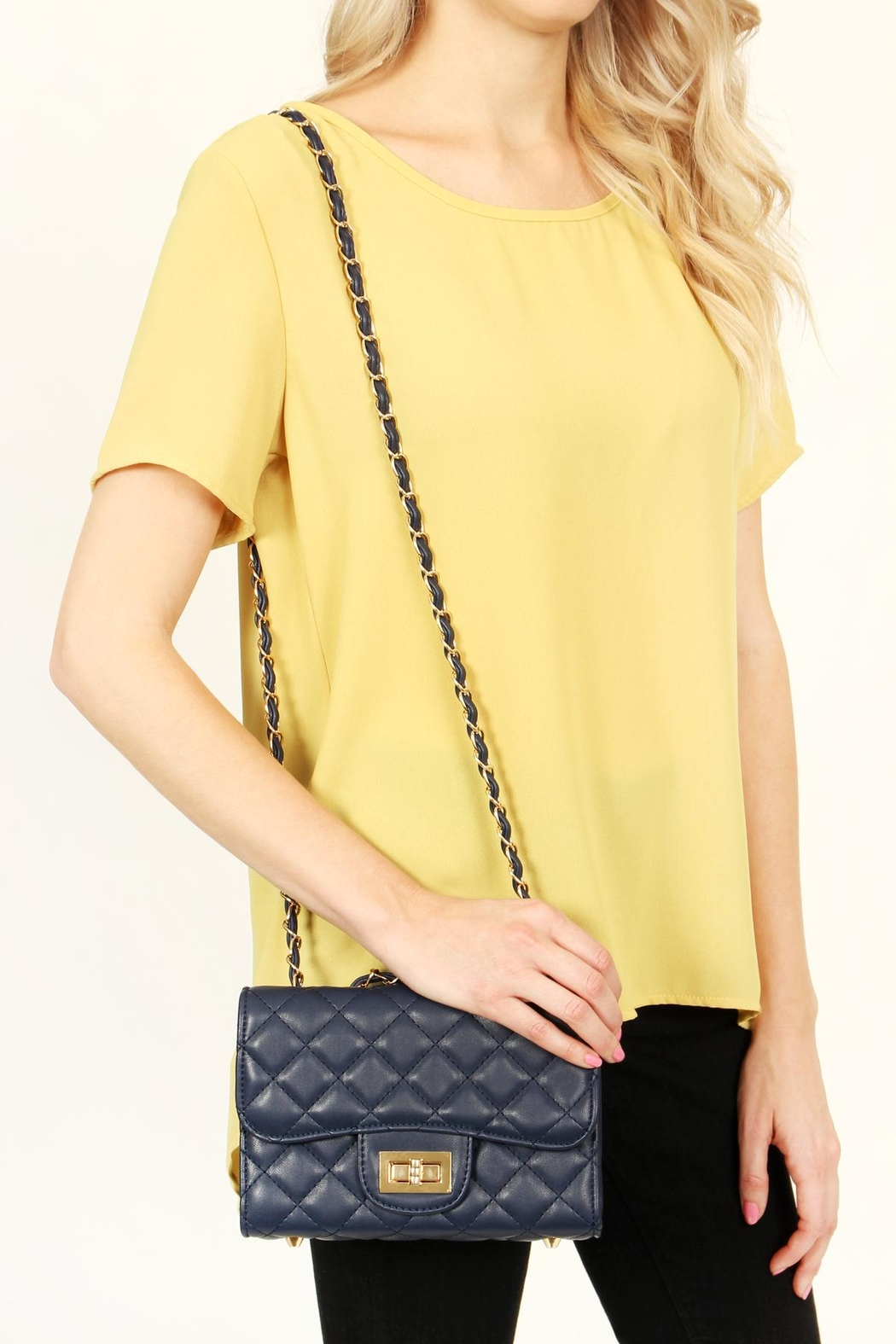 Riah Fashion Designer Inspired Handbag - Back Cropped Image