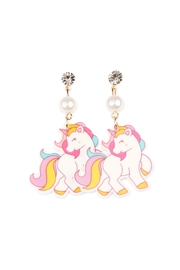 Riah Fashion Detailed Unicorn Earring - Front cropped