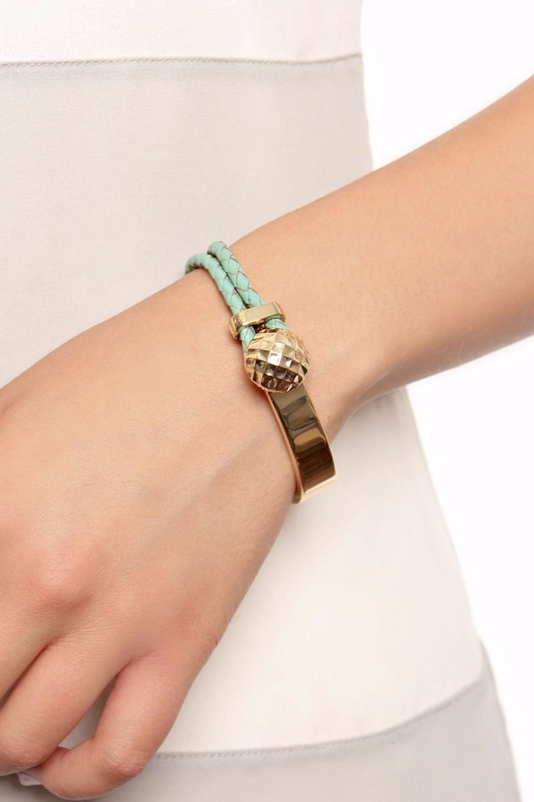 Riah Fashion Double Braided Bracelet - Front Full Image