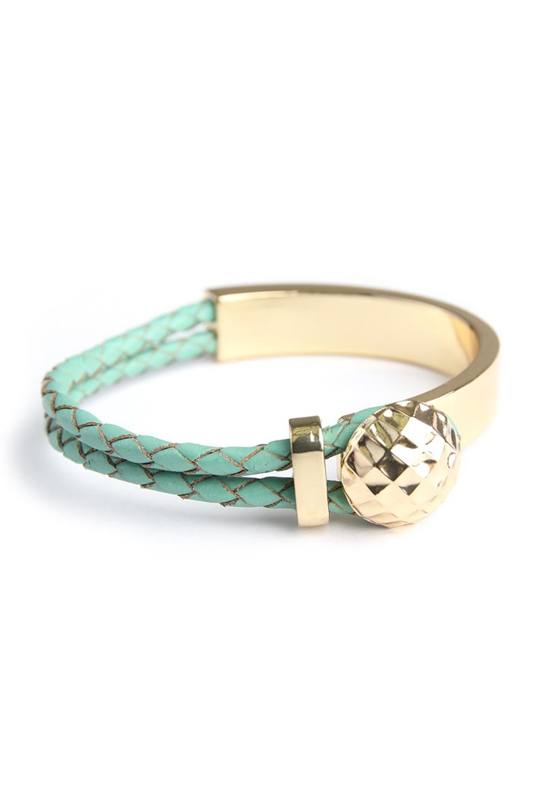 Riah Fashion Double Braided Bracelet - Front Cropped Image
