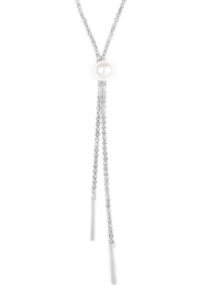 Riah Fashion Double Chain Necklace - Front full body