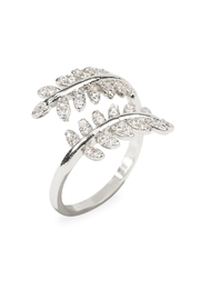 Riah Fashion Double Leaf Ring - Front full body