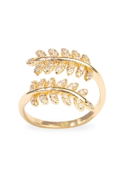 Riah Fashion Double Leaf Ring - Product Mini Image