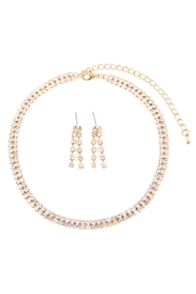 Riah Fashion Double-Line-Choker-Necklace-And-Earring-Set - Front cropped