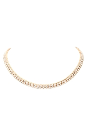 Riah Fashion Double-Line-Choker-Necklace-And-Earring-Set - Front full body