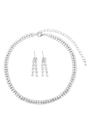 Riah Fashion Double-Line-Choker-Necklace-And-Earring-Set - Product Mini Image