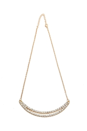 Riah Fashion Double Rhinestone Bar Necklace - Front cropped