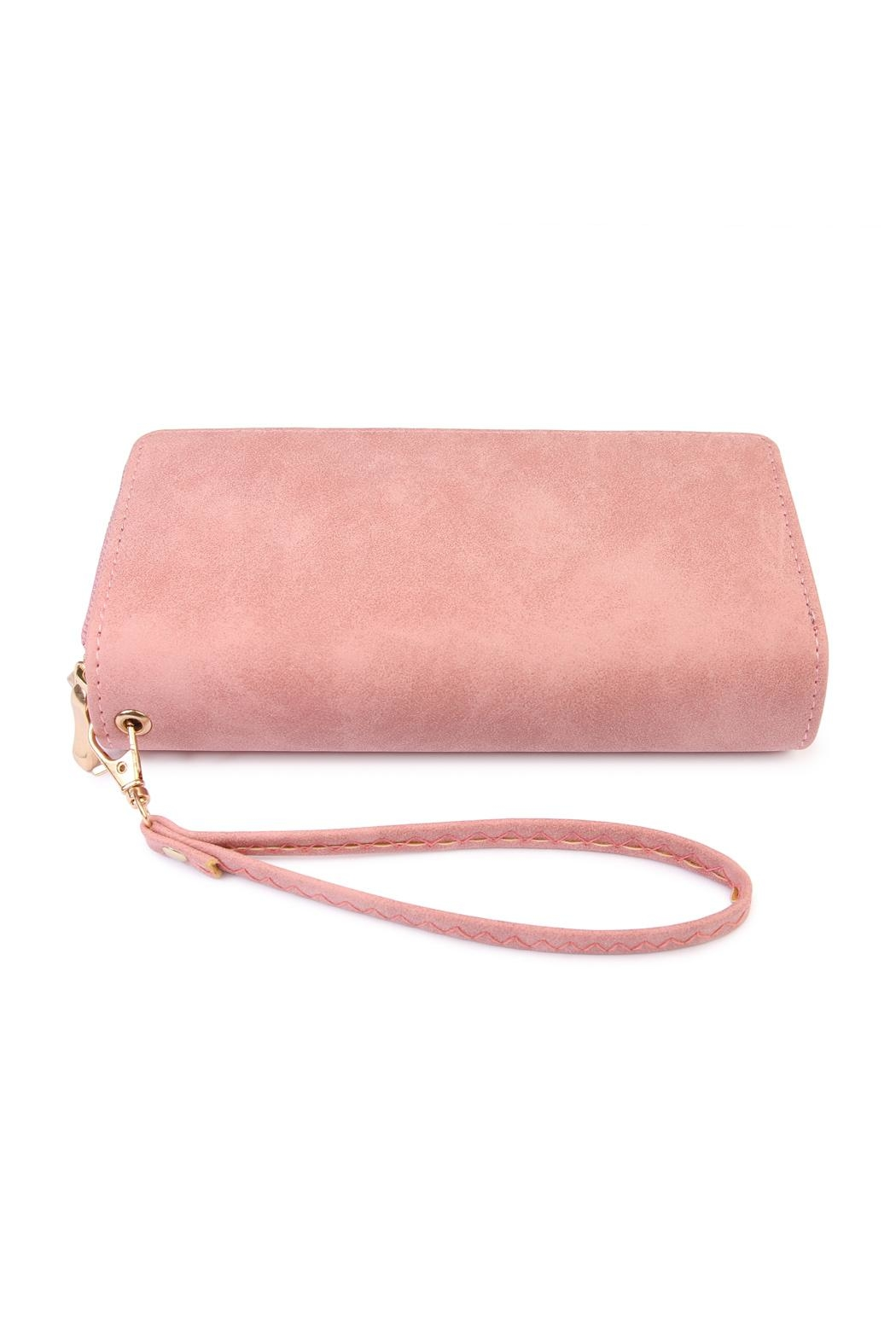 Riah Fashion Stylish Light Pink Wallet - Side Cropped Image