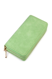Riah Fashion Stylish Green Wallet - Front cropped