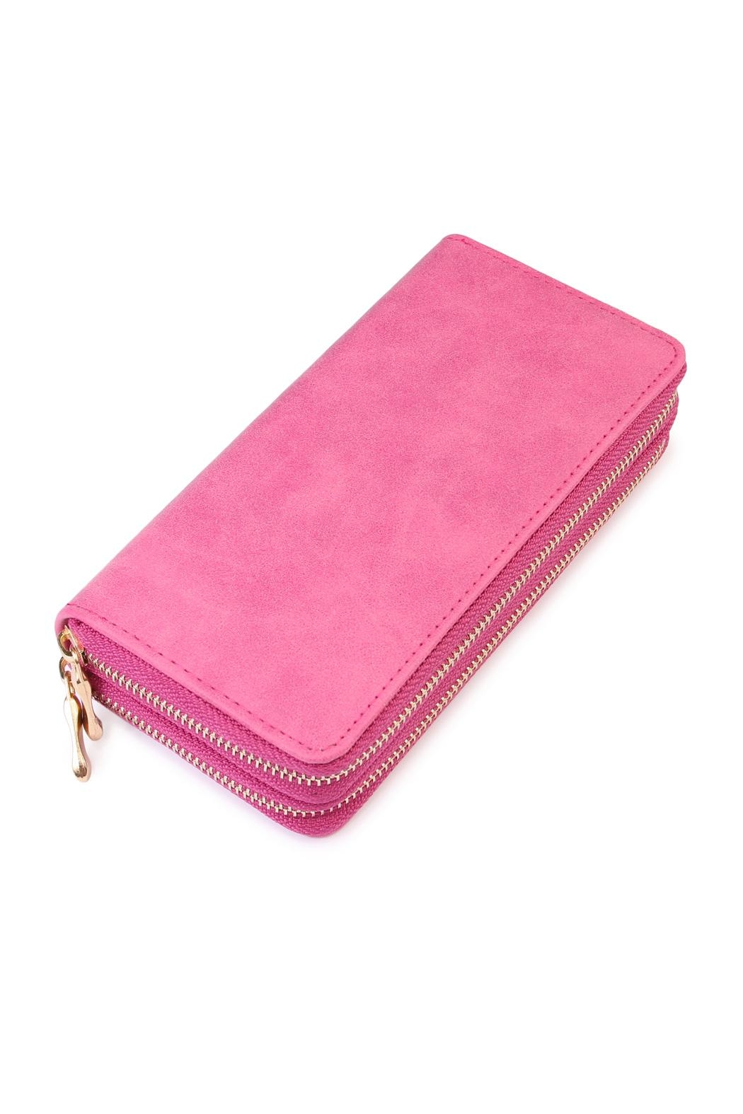Riah Fashion Stylish Pink Wallet - Main Image