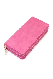 Riah Fashion Stylish Pink Wallet - Front cropped