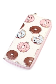 Riah Fashion Doughnut Print Zipper-Wallet - Product Mini Image